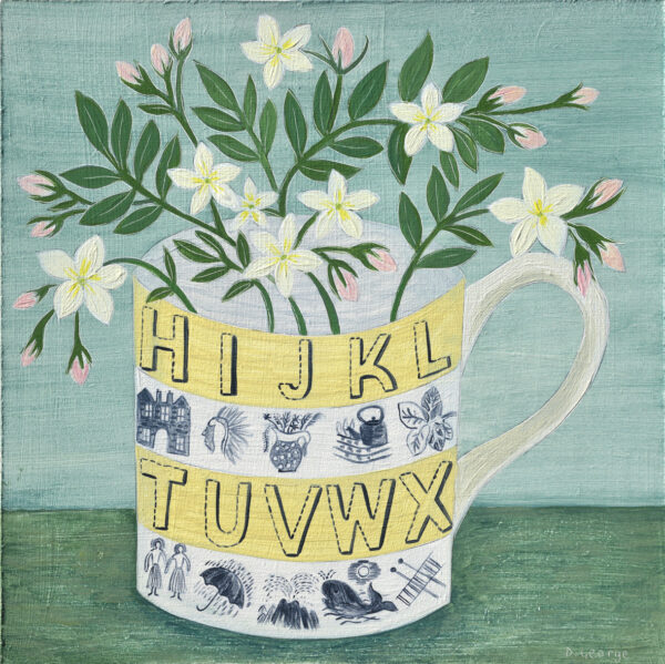 Alphabet cup and Jasmine