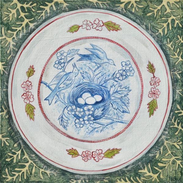 Bird nest plate