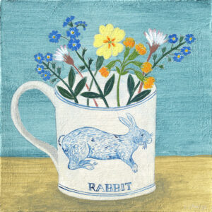 Rabbit cup and spring flowers