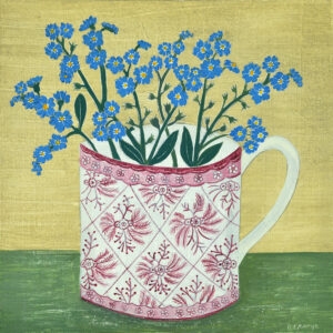 Lustre cup and Forget me nots